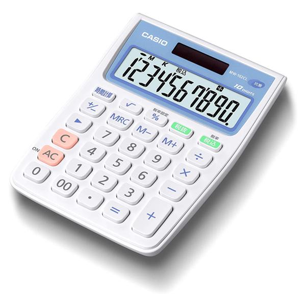 カシオ【アウトレット】再生品抗菌電卓 MW-102CL-Nホワイト4971850179801