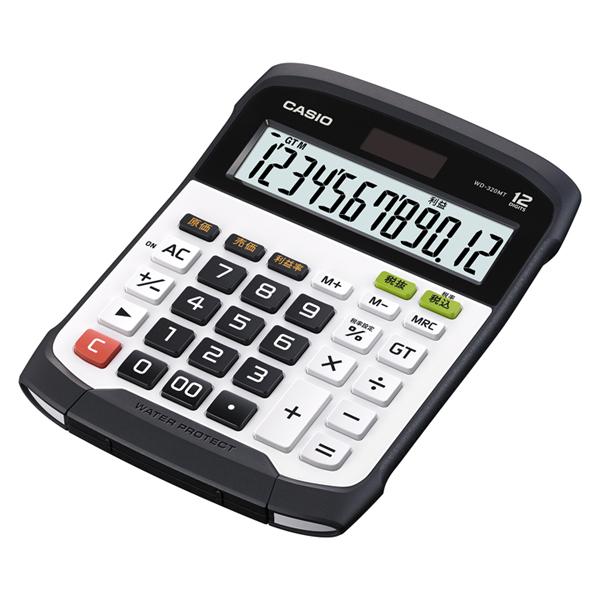 【送料無料】 (レターパックプラス・代引き不可) メーカー再生品 カシオ 防水・防塵電卓 WD-320MT-N