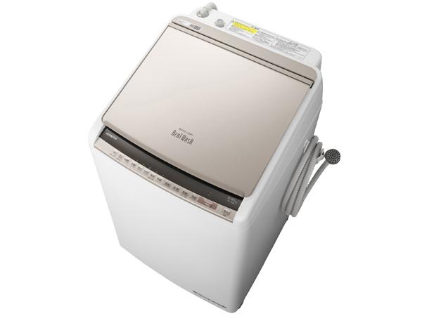 【基本設置無料】【東京23区近郊限定配送】【アウトレット】日立8kg縦型洗濯乾燥機BW-DV80E-Nシャンパン