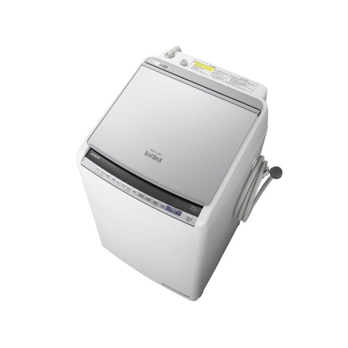 【基本設置無料】【東京23区近郊限定配送】【アウトレット】日立9kg縦型洗濯乾燥機BW-DV90E-Sシルバー