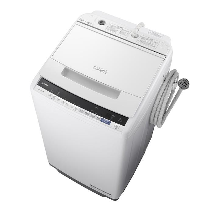 【基本設置無料】【東京23区近郊限定配送】日立7kg全自動洗濯機BW-V70E-WホワイトHITACHIBWV70E