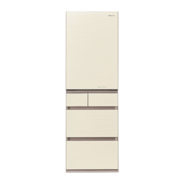 基本設置無料 東京23区近郊限定配送 パナソニック 450L 左開き 5ドア 冷蔵庫 NR-E454PXL-W スノーホワイト Panasonic NRE454PXL