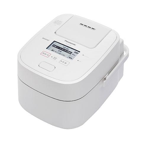 パナソニックスチーム&可変圧力IHジャー炊飯器5.5合炊きWおどり炊きSR-VSX100-Wホワイト
