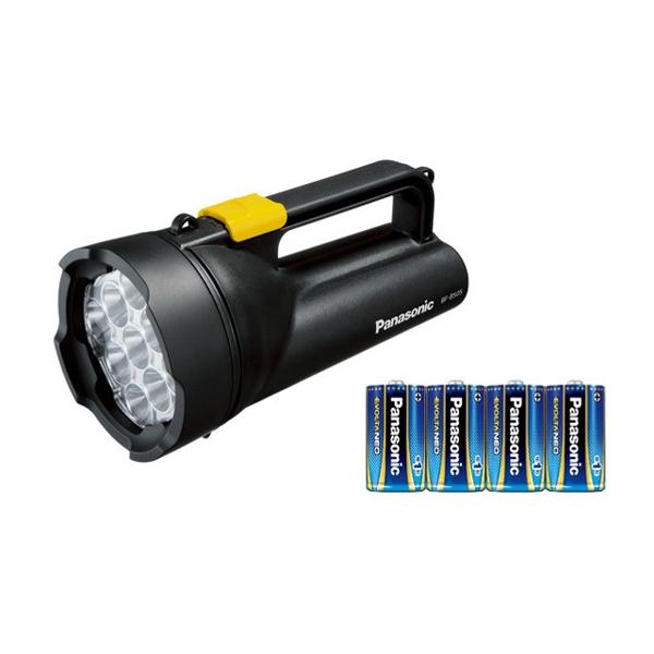 パナソニック乾電池エボルタNEO付きワイドパワーLED強力ライトBF-BS05N-黒