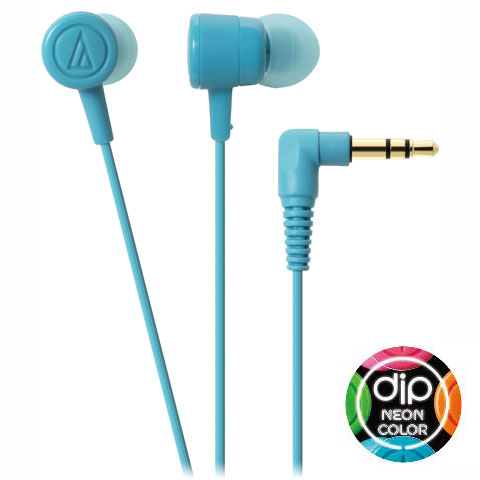 audio-technica(オーディオテクニカATH-CKL220LBLライトブルーイヤホン|ヘッドホンカラフルかわいい絡みにくい音漏れしにくいネオンカラー