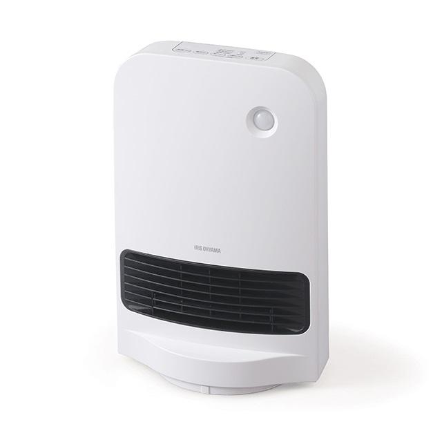 アイリスオーヤマ人感センサー付きセラミックファンヒーターJCH-12TDSW1ホワイトIRISOHYAMA|暖房器具大風量首振り