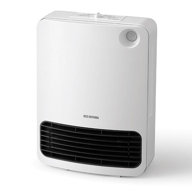 アイリスオーヤマ人感センサー付きセラミックファンヒーターメカ式JCH-126D-WホワイトIRISOHYAMA|暖房器具