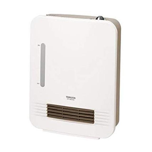山善加湿機能付きセラミックヒータースチーム式HF-KB122(Wホワイト|暖房乾燥しないうるおい