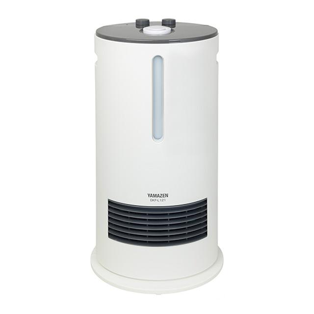 【店頭展示品・未使用】山善加湿機能付きセラミックヒーター超音波ミスト式DKF-L121(Wホワイト|暖房乾燥しないうるおい