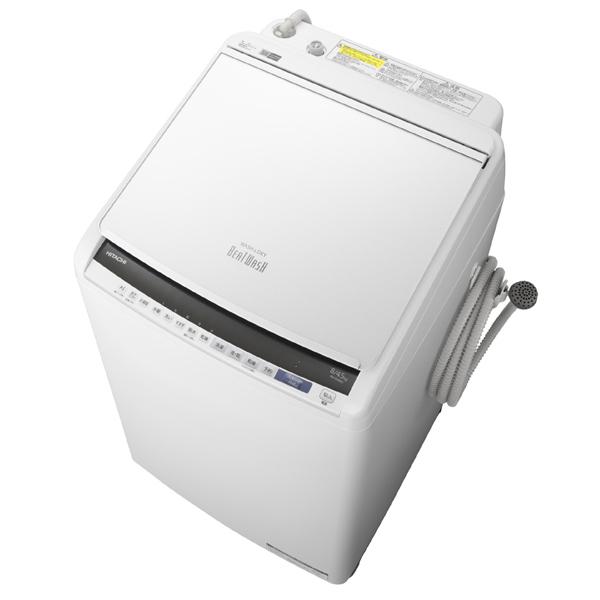 基本設置無料 東京23区近郊限定配送 アウトレット 日立 縦型洗濯乾燥機 BW-DV80E-W 8kg ホワイト