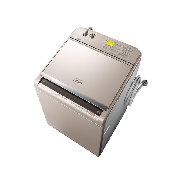 基本設置無料 東京23区近郊限定配送 【アウトレット】 日立 タテ型洗濯乾燥機 ビートウォッシュ BW-DV120E-N 12kg シャンパン