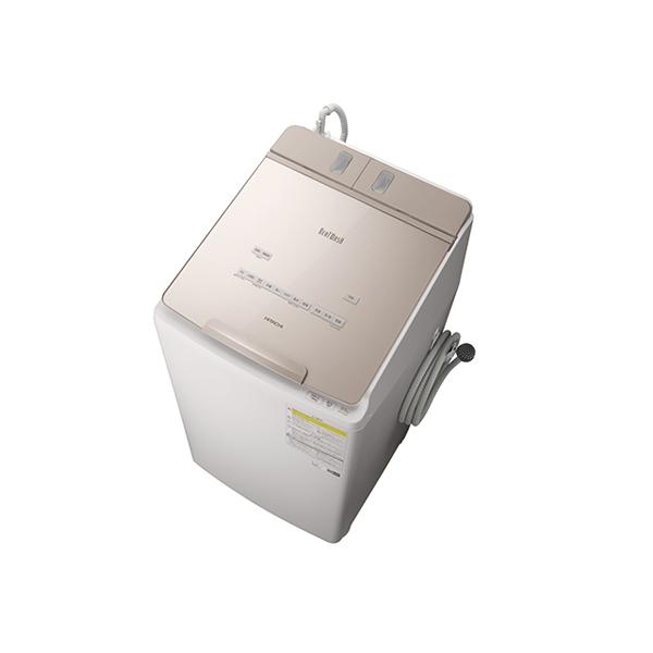 基本設置無料 東京23区近郊限定配送 【アウトレット】 日立 洗濯乾燥機 ビートウォッシュ BW-DX90F(N) 9kg シャンパン