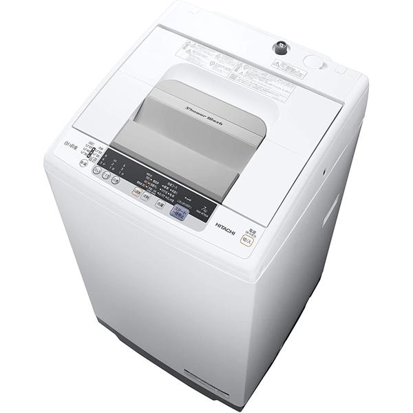 東京 埼玉 千葉 神奈川一部エリア限定 標準設置込 条件付きで処分無料 日立 NW‐R704(W) 全自動洗濯機 白い約束 7kg ピュアホワイト