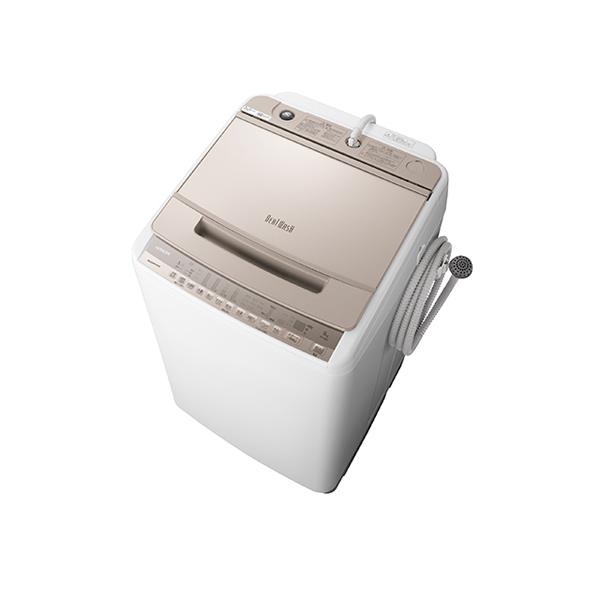 基本設置無料 東京23区近郊限定配送 日立 全自動洗濯機 ビートウォッシュ BW-V80F(N) 8kg シャンパン