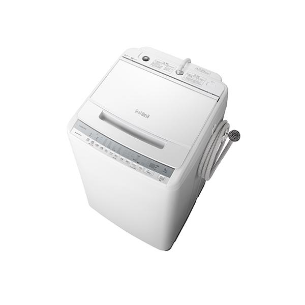 基本設置無料 東京23区近郊限定配送 日立 全自動洗濯機 ビートウォッシュ BW-V80F(W) 8kg ホワイト