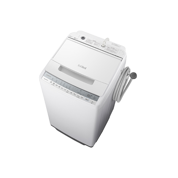 基本設置無料 東京23区近郊限定配送 日立 全自動洗濯機 ビートウォッシュ BW-V70F(W) 7kg ホワイト