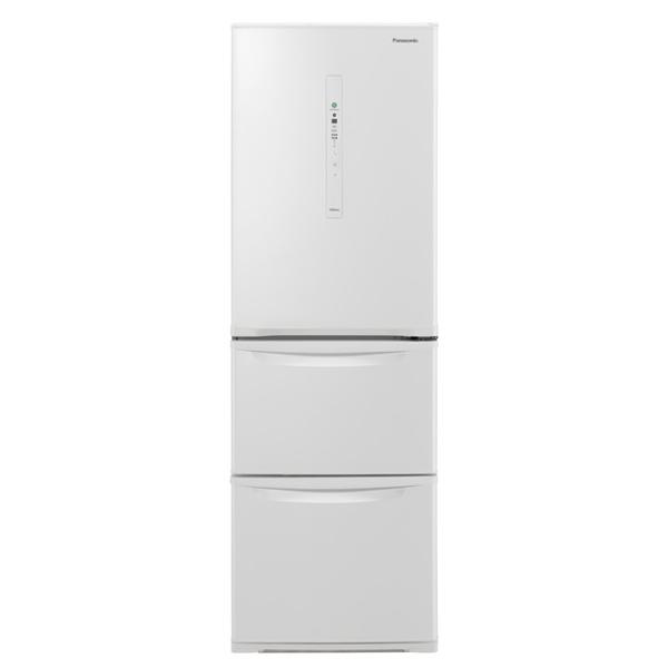 基本設置無料 東京23区近郊限定配送 パナソニック ノンフロン冷凍冷蔵庫 NR-C370CL-W 365L 左開き ピュアホワイト