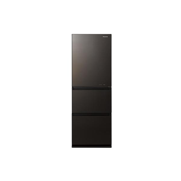 基本設置無料 東京23区近郊限定配送 パナソニック ノンフロン冷凍冷蔵庫 NR-C341GC-T 335L 右開き ダークブラウン