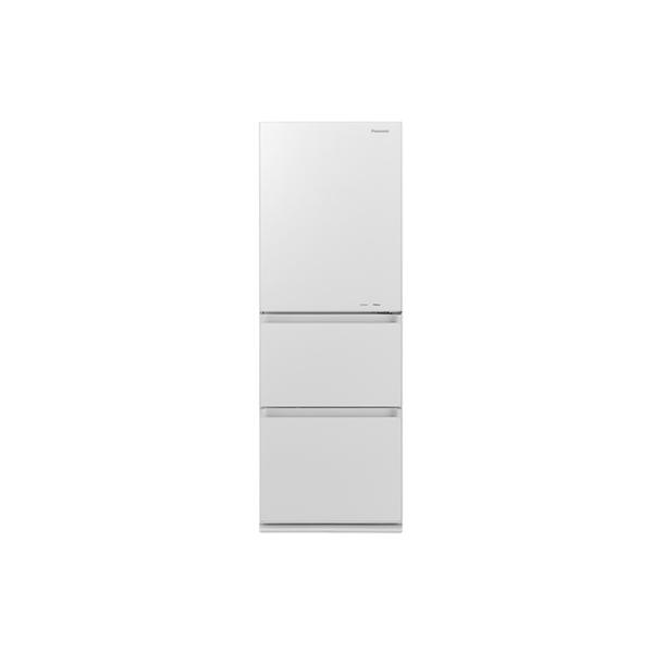 基本設置無料 東京23区近郊限定配送 パナソニック ノンフロン冷凍冷蔵庫 NR-C341GC-W 335L 右開き スノーホワイト