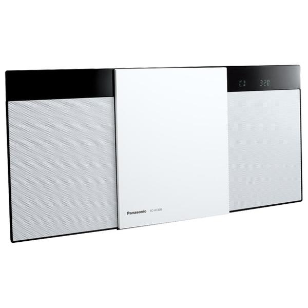 パナソニック コンパクトステレオシステム SC-HC320-W ホワイト