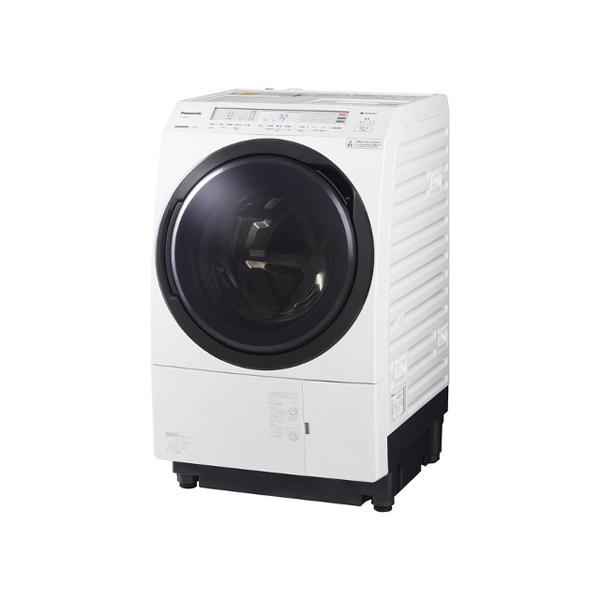 基本設置無料 東京23区近郊限定配送 パナソニック ななめドラム洗濯乾燥機 NA-VX800BL-W 11kg 左開き クリスタルホワイト
