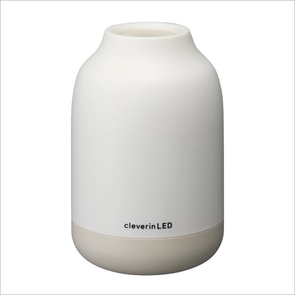 【送料無料】 ドウシシャ クレベリンLED搭載 除菌・消臭ポット CLGU-061-IV 6畳用 アイボリー