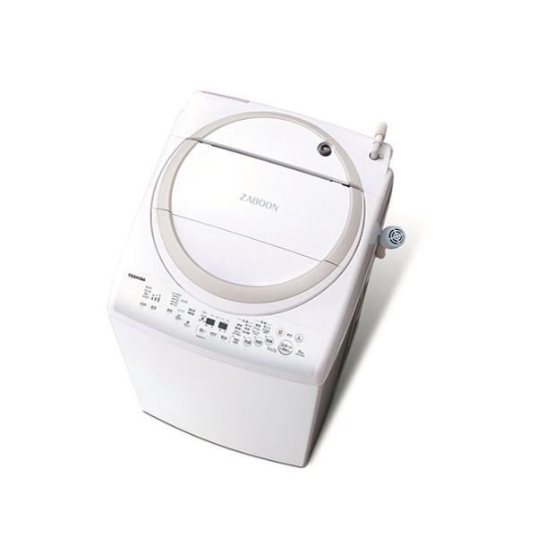 基本設置無料 東京23区近郊限定配送 東芝ライフスタイル タテ型洗濯乾燥機 ザブーン AW-8V9(W) 8kg グランホワイト【配送料:2,200円(税込)~】