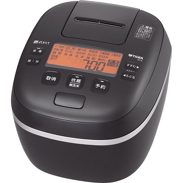 タイガー 圧力IH ジャー炊飯器 炊きたて 泡火ほうび炊き JPI‐G100〈KL〉 5.5合 ミネラルブラック