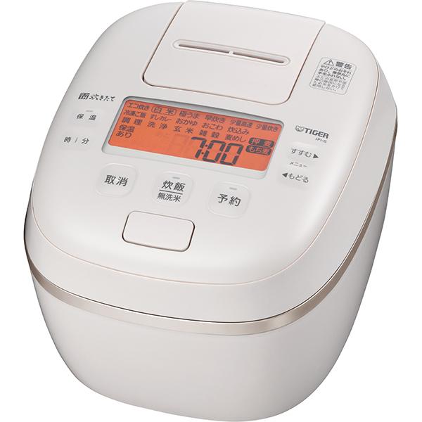 タイガー 圧力IH ジャー炊飯器 炊きたて 泡火ほうび炊き JPI‐G100〈WE〉 5.5合 エクリュホワイト