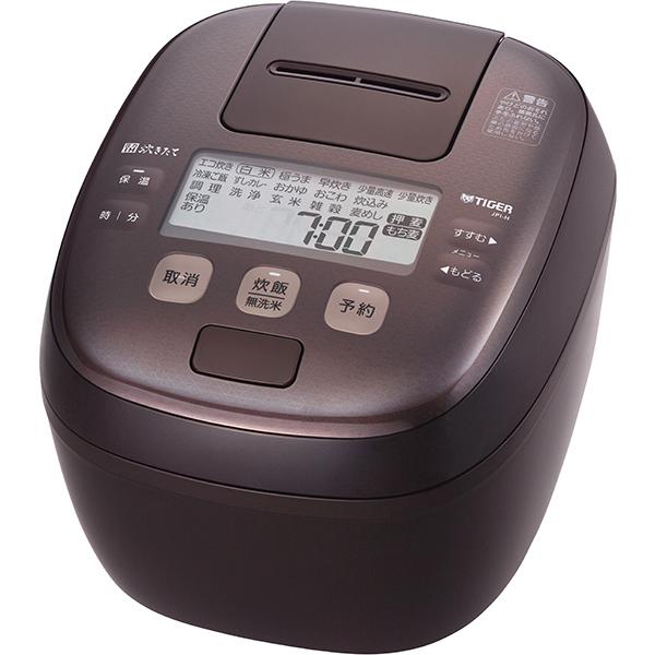 タイガー 圧力IH ジャー炊飯器 炊きたて JPI‐H100〈TD〉 5.5合 ダークブラウン