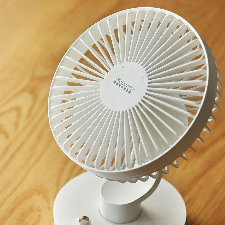 ライフ・オン・プロダクツ コードレス ミニリビングファン 無段階風量調節 PR-F041-WH ホワイト