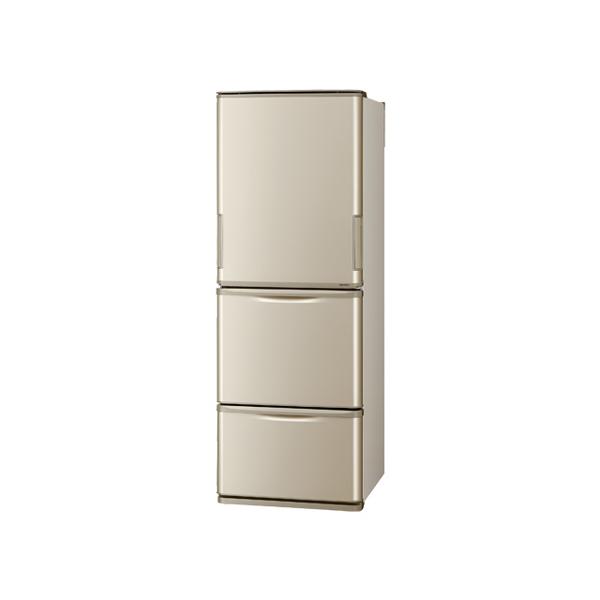 東京 埼玉 千葉 神奈川エリア限定 シャープ 冷蔵庫 SJ-W353G-N 350L 3ドア ドアタイプ どっちもドア ゴールド