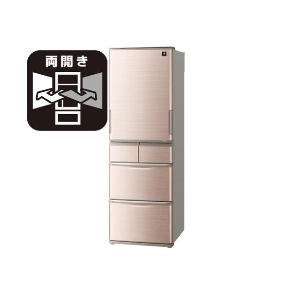 東京 埼玉 千葉 神奈川一部区域 標準設置 条件付処分無料 シャープ SJ‐X414H‐T 冷蔵庫 412L どっちもドア ブラウン