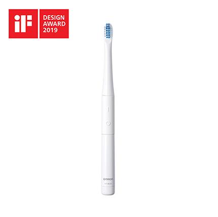 【レターパックプラス・代引き不可】 オムロン 音波式電動歯ブラシ 乾電池式 HT-B223-W ホワイト