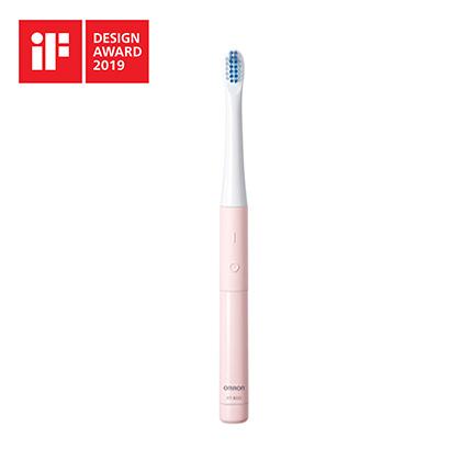 【レターパックプラス・代引き不可】 オムロン 音波式電動歯ブラシ 乾電池式 HT-B223-PK ピンク