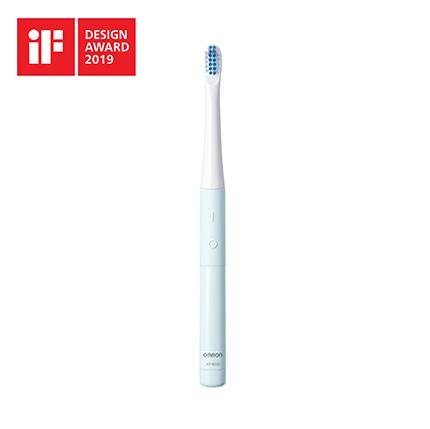 【レターパックプラス・代引き不可】 オムロン 音波式電動歯ブラシ 乾電池式 HT-B223-B ブルー