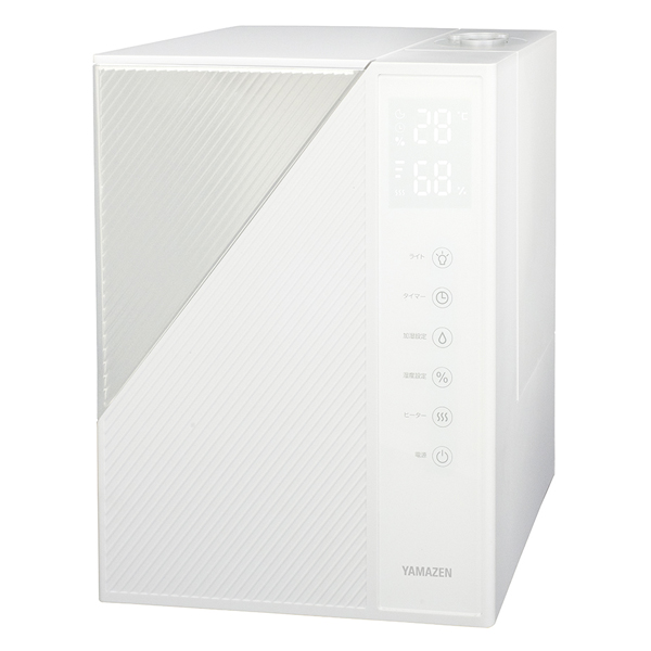 山善 MZH‐L50(W) ヒーター付 ハイブリット式 加湿器 7‐11畳 ホワイト