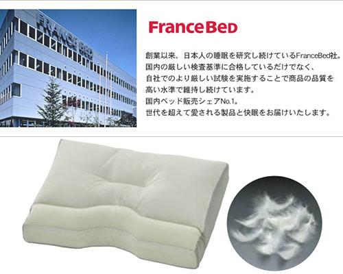 【お取り寄せ】FranceBed(フランスベッドニューショルダーフィットピローフェザー(羽毛ロータイプ枕