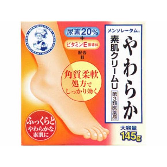 ロート製薬 メンソレータムやわらか素肌クリームU 145g【第3類医薬品】