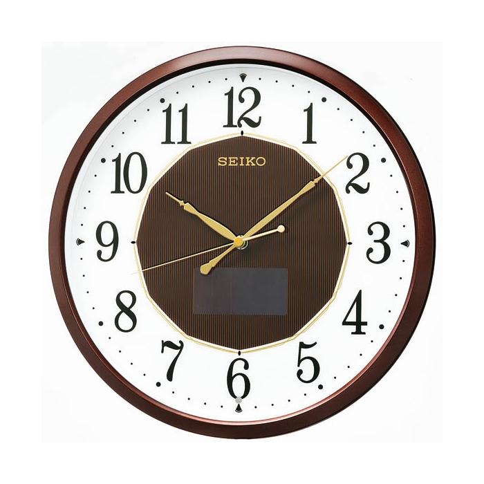 セイコーSF241B電波掛時計【アナログプラスチック枠ハイブリッドソーラーSEIKO】