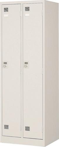 東洋事務器工業 ダイヤル錠式2人用衣類ロッカー LK-2D-TNG 幅608×奥行515×高さ1790mm