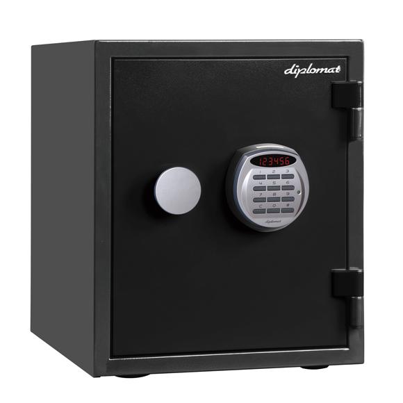 ディプロマット デジタルテンキー式1時間耐火金庫 A125R3WR BLACK 幅352奥行467高さ420mm 36Kg