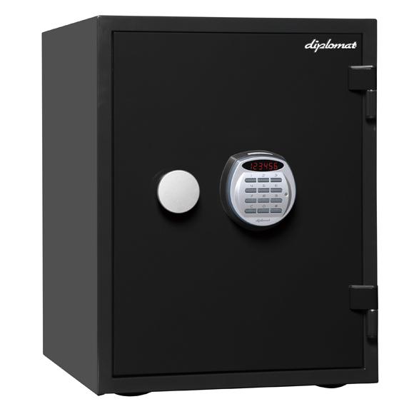 ディプロマット デジタルテンキー式1時間耐火金庫 A530R3WR BLACK 幅404奥行474高さ522mm 53Kg