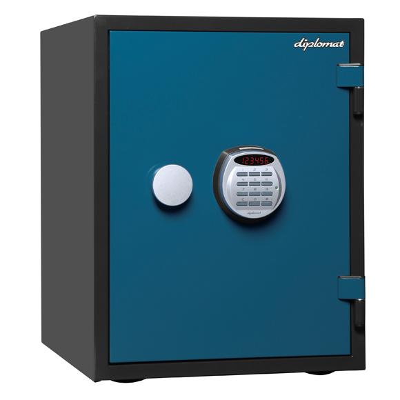 ディプロマット デジタルテンキー式1時間耐火金庫 A530R3WR BLUE 幅404奥行474高さ522mm 53Kg