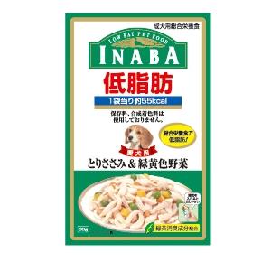 いなばペットフードINABA低脂肪とりささみ&緑黄色野菜入り80g犬用フードウェット