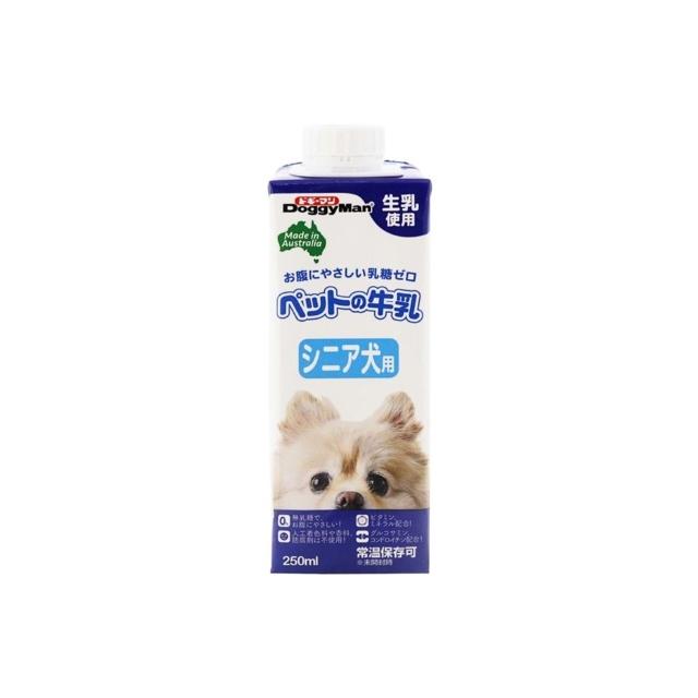 【TAKEYAスマイル便 対象品】ドギーマンハヤシペットの牛乳シニア犬用250mlその他犬用フード