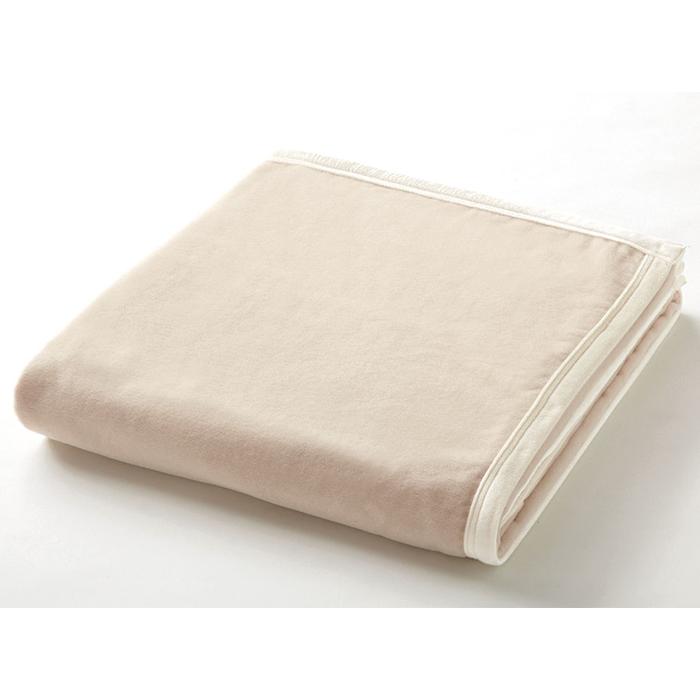 日本製ニッケウォッシャブルウール&マイクロマティーク毛布WLPE54001シングルサイズ150x210cmベージュ