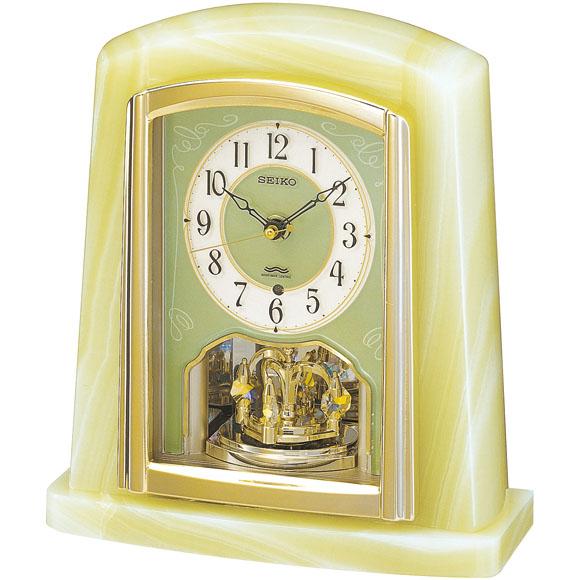 セイコーBY223M電波置時計【天然オニキス枠SEIKO】
