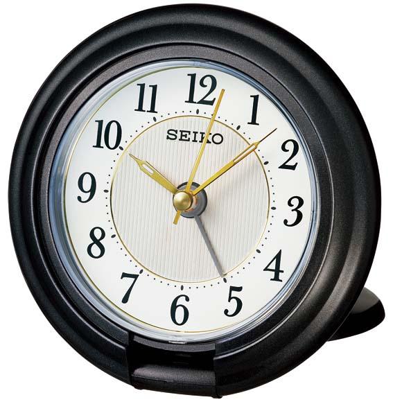 セイコーQQ637K目覚まし時計【アナログトラベラSEIKO】