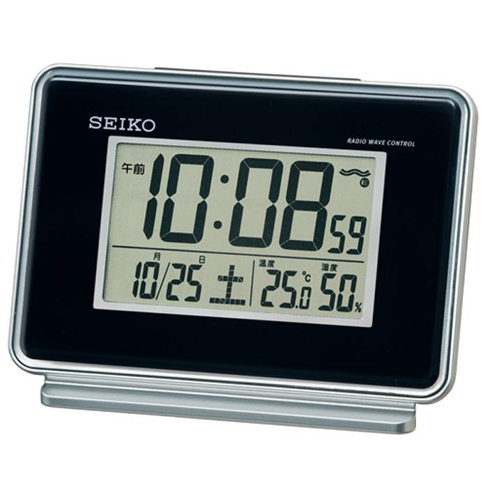 セイコーSQ767K目覚まし時計温度・湿度表示つきアラーム2チャンネル